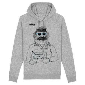 Hoodie - Bedruckter Herren Hoodie aus Bio-Baumwolle KULTURBANAUSE  - karlskopf