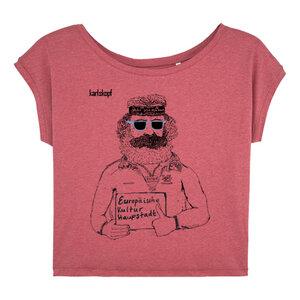 Bedrucktes Damen T-Shirt -lässig- aus Bio-Baumwolle KULTURBANAUSE - karlskopf