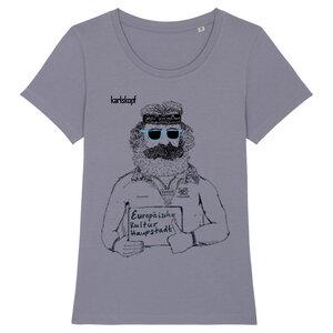 Bedrucktes Damen T-Shirt -classic- aus Bio-Baumwolle KULTURBANAUSE - karlskopf