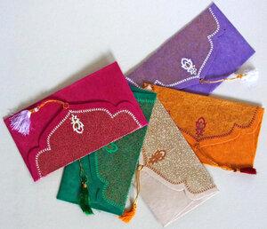 Kuverts Set aus handgeschöpftem Seidelbastpapier/Set mit 5 Stück - BAGHI