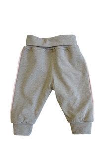 Baby-Hose GOTS zertifiziert grau und rosa - maximo