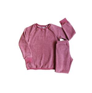 Kinder Frottee Schlafanzug Bio Baumwolle dusty rose - betus