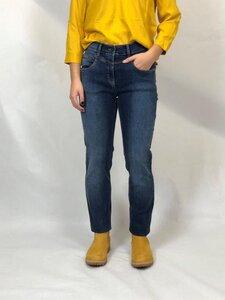Jeans mit höherer Leibhöhe und schmalen Beinverlauf, Blau - bloomers