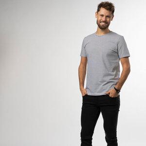 T-Shirt Stripes Herren - Biobaumwolle schwarz & weiß - Vresh Clothing