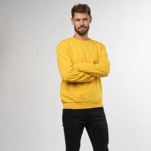 Sweater Sueter Herren - Bio-Baumwolle schwarz/gelb/grau - Vresh Clothing