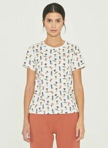 T-Shirt aus Bio-Baumwolle mit Allover-Print - ORGANICATION