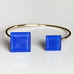 Minimalistischer Armreif mit Glaselementen | PUREFORM - ALEXASCHA