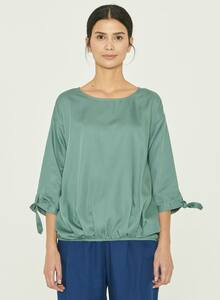 Bluse aus Tencel mit Knotendetail - ORGANICATION