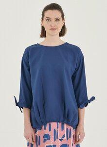 Bluse aus Tencel mit Knotendetail - ORGANICATION