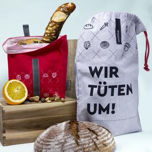 Beutel Set: Brotbeutel & Snack Beutel / Bio Baumwolle / plastikfrei - umtüten