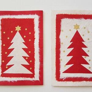 Grußkarte Weihnachten mit Sterngirlande 4 Stck. - BAGHI