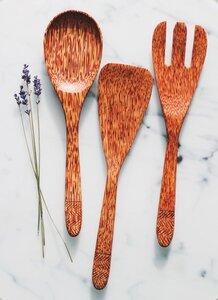 Kokosholz Küchenhelfer Set handgefertigt - Balu Bowls