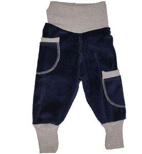 Kinder-/Baby-Mitwachshose aus Stretch-Breitcord mit Taschen in 4 Farben - Omilich