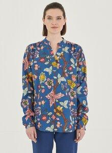 Langarm Bluse aus Tencel mit Allover-Print - ORGANICATION