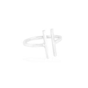 Ring Silber offener-Weg minimalistisch elegant handmade Fair-Trade - pakilia