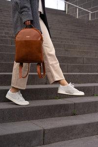 Kleiner Rucksack aus fairem Leder // Backpack // schwarz, braun, beige - frisch Beutel