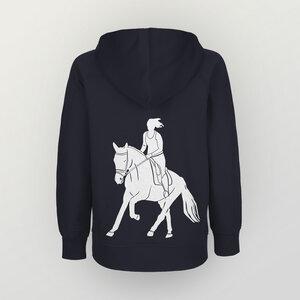 """""""Galopp"""" Kinder Hoody aus reiner Biobaumwolle (kbA) Pferd - HANDGEDRUCKT"""