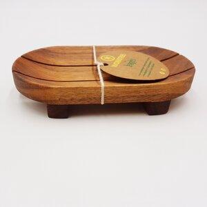 Seifenschale aus Akazienholz von entwurzelten Bäumen - BAGHI