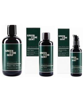 Geschenkset für Herren, 3 Pflegeprodukte - GREEN + THE GENT