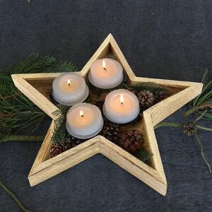 Advents-Kerzenhalter STERN, Mangoholz - GLOBO
