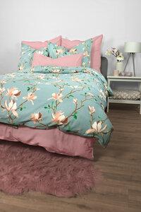 """Renforcé Bettwäsche """"Magnolia Blossom"""" 135x200cm + 80x80cm 2-tlg 100% Bio-Baumwolle Made in Green - jilda-tex"""