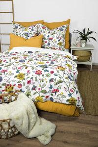 """Cotton-Slub Bettwäsche """"Midsommar"""" Leinenoptik 135x200cm + 80x80cm 2-tlg. 100% Bio-Baumwolle Made in Green - jilda-tex"""