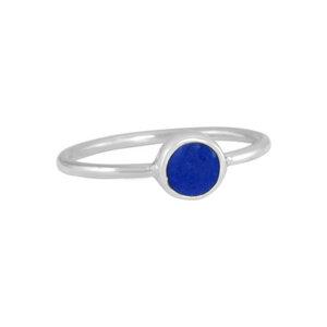 Damen-Ring 'Redondo Lapizlazul' #7 925 Sterling-Silber - pakilia