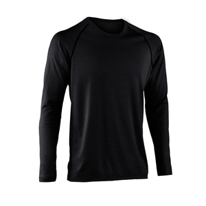 Engel sports Bio Shirt langarm black regular fit - ENGEL SPORTS