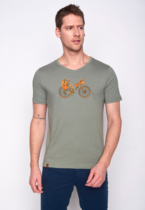 Herren Shirt 100% Biobaumwolle Bike Nomad Peak GOTS Zertifiziert - GreenBomb