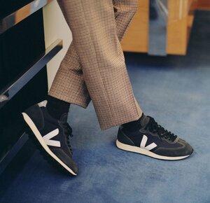 Sneaker Herren - Rio Branco Alveomesh - Black White Oxford Grey - Veja