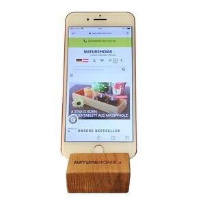 Handy-Halter Smartphone-Ständer versch. Holz-Arten 8 x 5 x 2,5 cm - NATUREHOME
