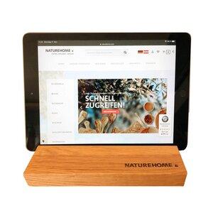 Tablet-Halter versch. Holzarten 19,5 x 12,5 x 2,5 cm - NATUREHOME