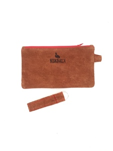 Federmäppchen/ Kosmetiktasche mit Schlüsselanhänger aus Baumrinde - Njagala