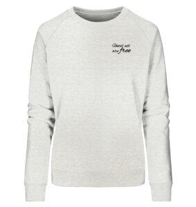 Organic Damen Sweatshirt Free Print - BVeganly