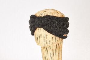 Schurwollstirnband in Rippstrick mit Knoten, handgestrickt - short'n'pietz