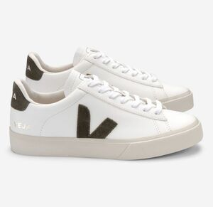 Sneaker Damen - Campo Chromefree Leather - Extra White Kaki - Veja