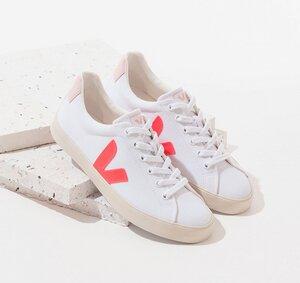 Sneaker Damen Vegan - Esplar SE Canvas - White Rose Fluo Petale - Veja
