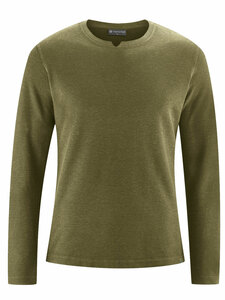 Herren Langarm-Shirt Hanf/Bio-Baumwolle - HempAge