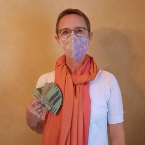 Mund-Nase-Bedeckung handgewebt 100 % Baumwolle in Nepal - Maheela