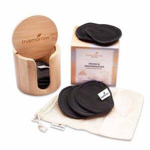 Premium Abschminkpads von truemorrow, mit Bambusbox, waschbar und wiederverwendbar - truemorrow