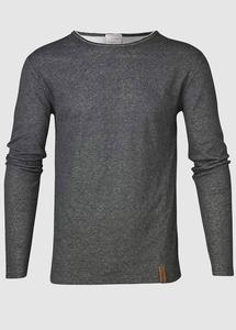 Double Layer Long Sleeve Tee Dark Grey Melange - KnowledgeCotton Apparel