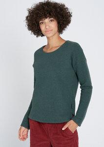Damen Sweatpullover aus Bio Baumwolle grün | Waffle Sweatshirt - recolution
