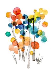 Birchtrees - Poster von Ekaterina Koroleva - Photocircle