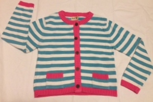 Strickjacke weiß hellblau gestreift - Kite Kids