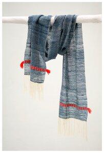 Blauer Schal aus Yakwolle - liv interior