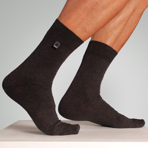 Bio-Business-Socken glatt, anthrazit, 4er Pack - Dailybread