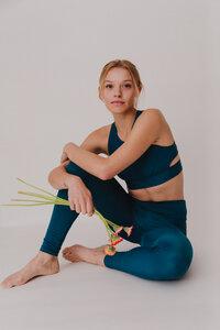 "Damen Leggings aus ECONYL ""Walk Free"" Besonnen Mindful Yoga Fashion - BESONNEN"