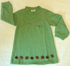 Pullover mintgrün mit Herbstblättern - Cotton People Organic