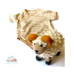 Baby Geschenk-Set Schafbock und Bio Wickelbody - Mama Ocllo®