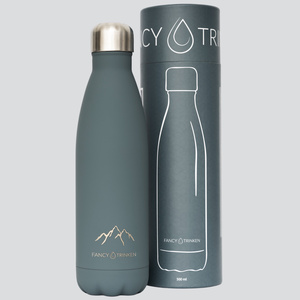 Isolierflasche 500 ml, Motiv: Berge, Trinkflasche aus Edelstahl - Fancy Trinken
